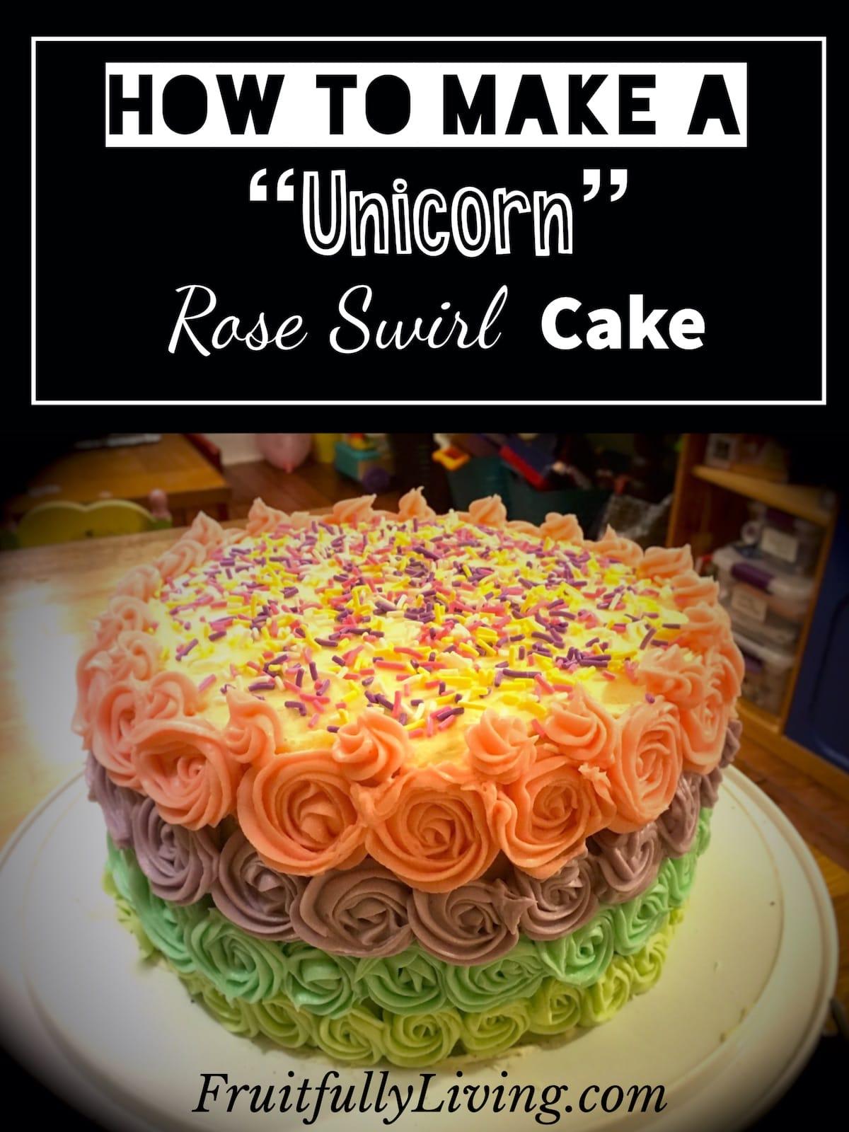 How to Make a Rose Swirl Cake Image