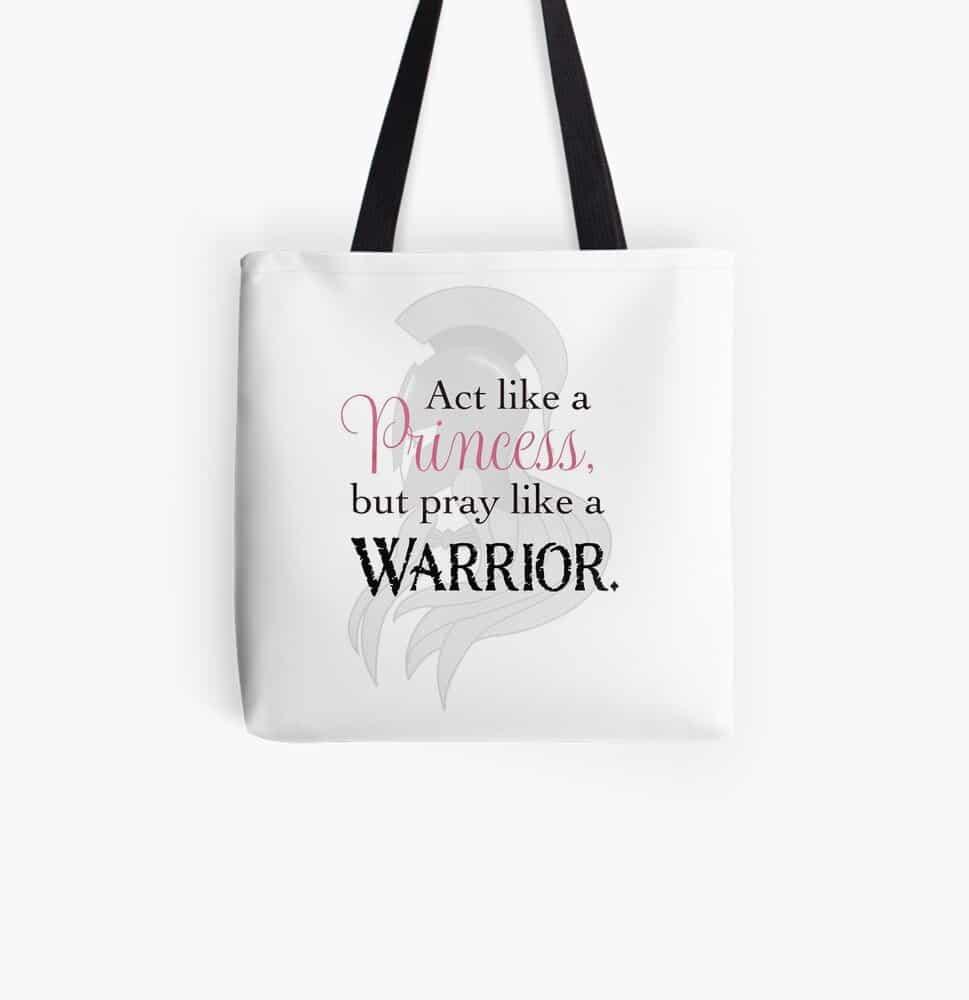 Princess Prayer Warrior Hand Bag