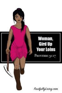 woman gird up loins image
