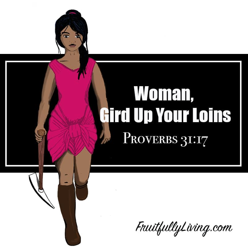 Gird up your loins, modern woman image