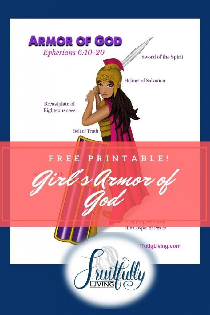 Girl's Armor of God printable