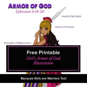 Armor of God Free Printable image