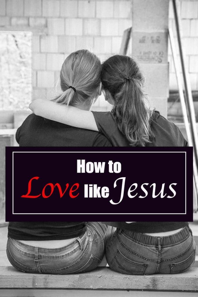 Love like Jesus, love of Christ image