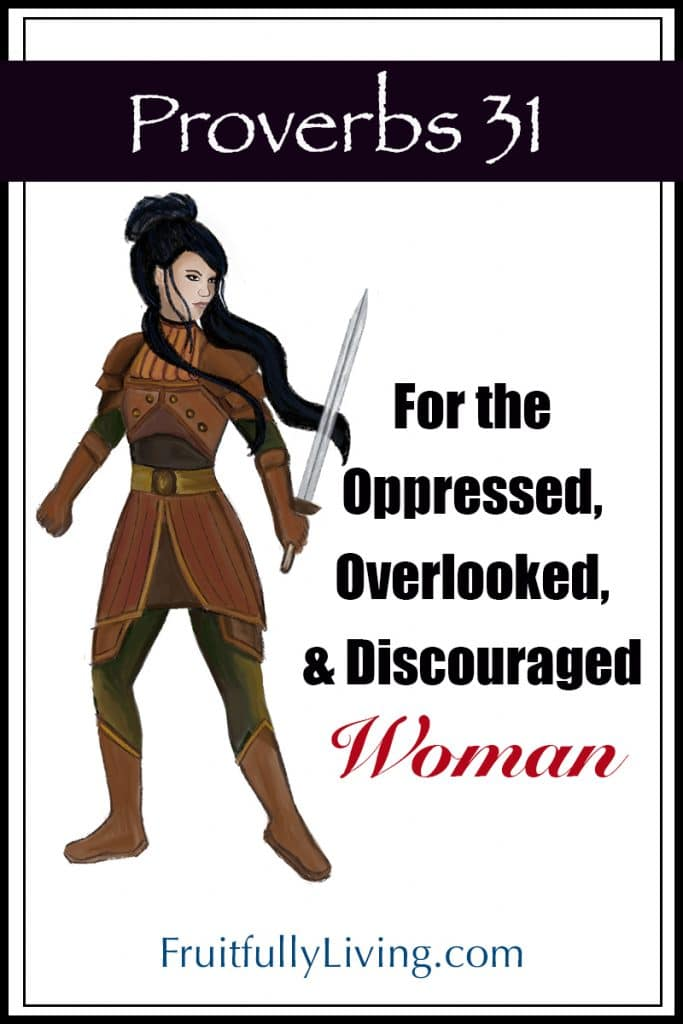 Proverbs 31 woman of valor for the discouraged woman image