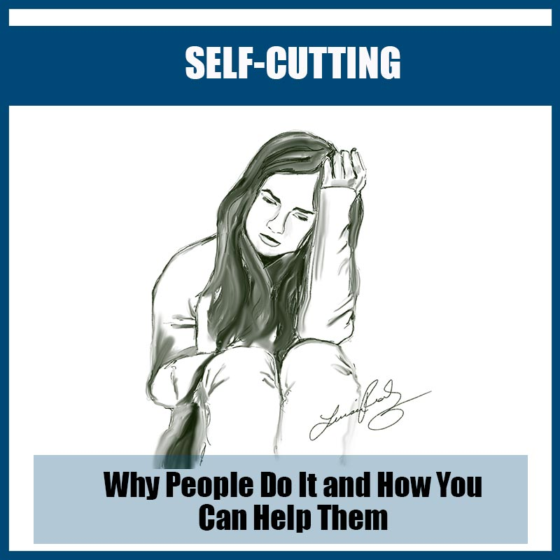 Why people self-cut, self harm image
