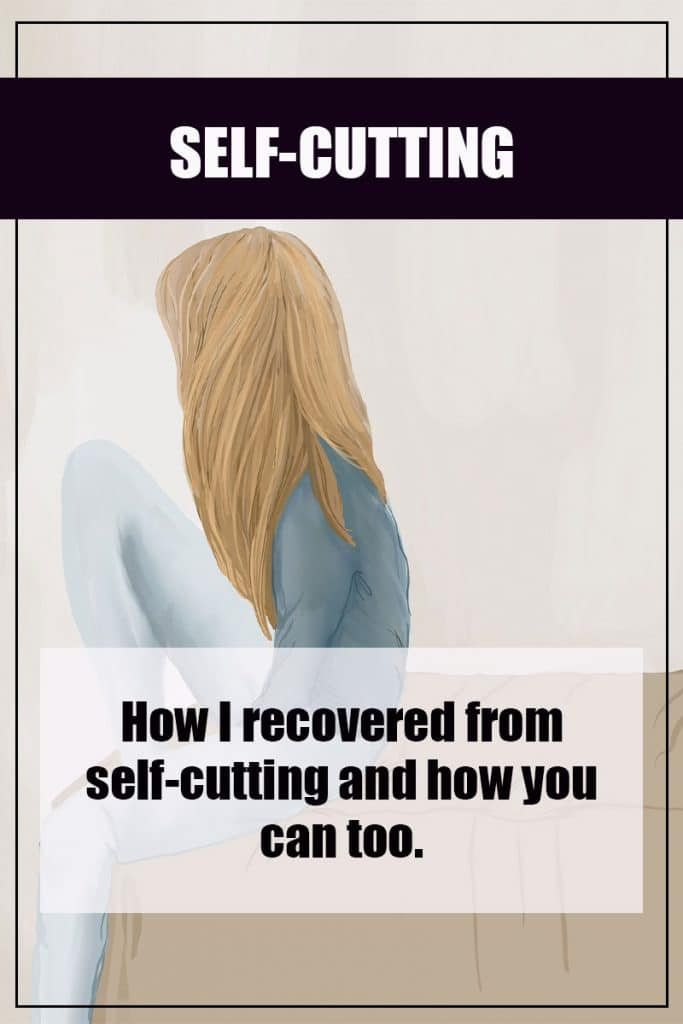 how to help person self cutting image