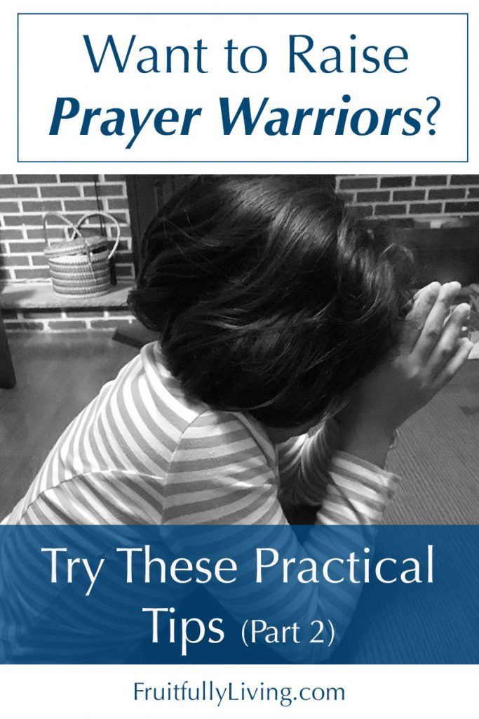 Teach a child to pray, raising prayer warriors image