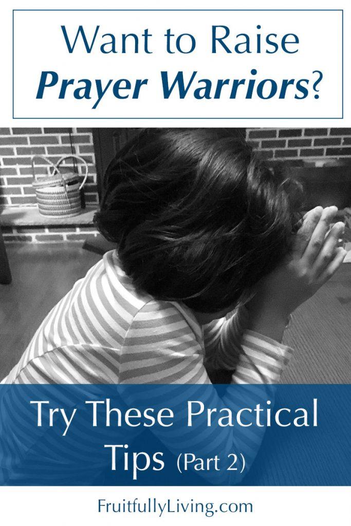 Teach a child to pray, raising prayer warriors image