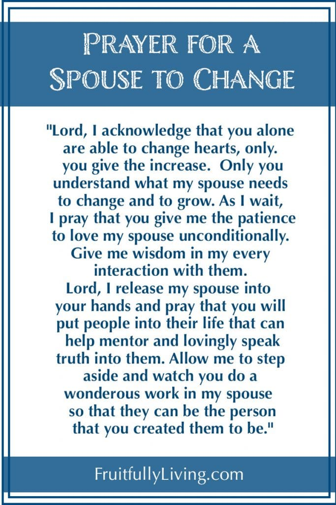 Prayer for Husband to Change