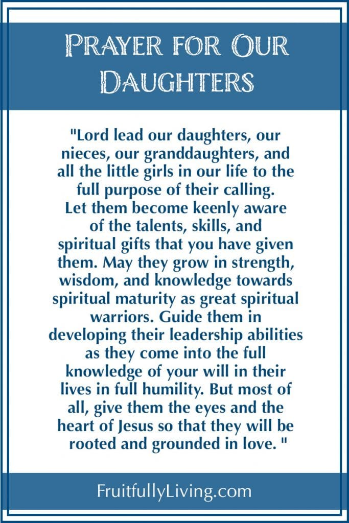 Prayer for Our Daughters Made In His Image