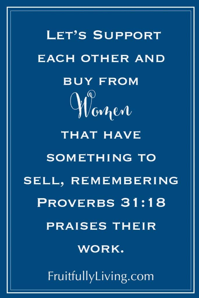 Proverbs 31:18 Supporting women that sell image