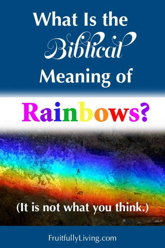 What is the meaning of rainbows in the Bible image