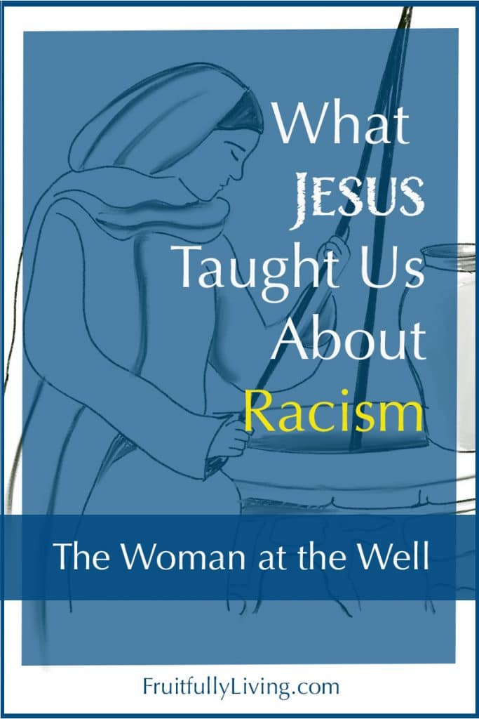 woman at the well and racism image