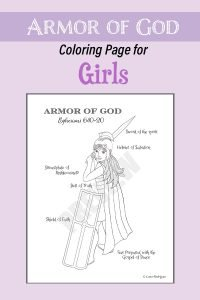 Amor of God Coloring Page for Girls