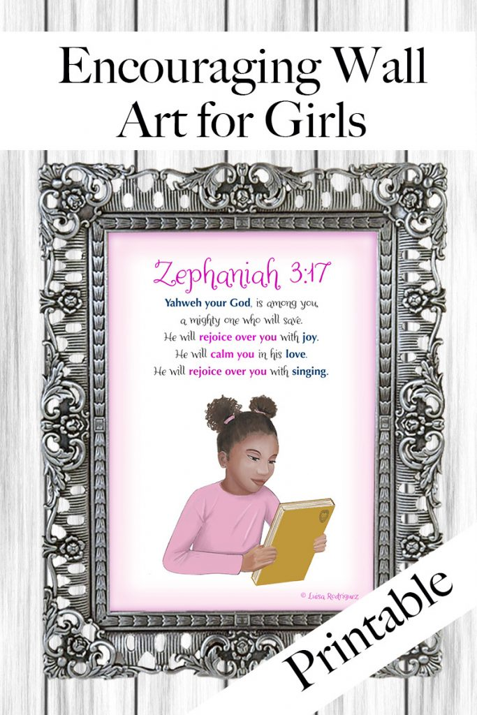 Bible Verse wall art for girls