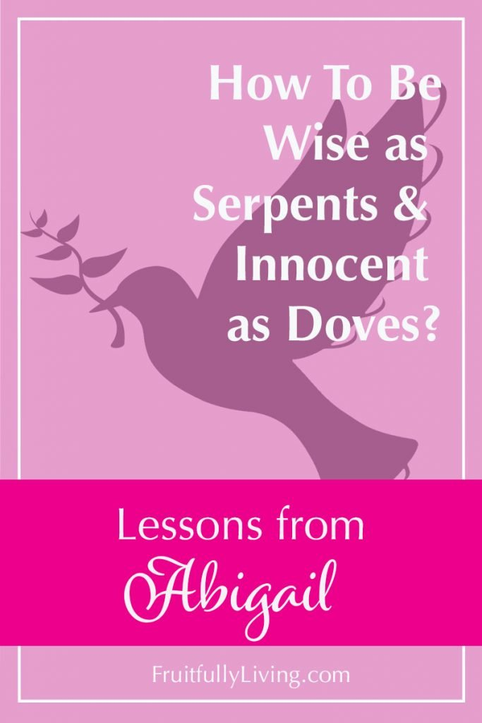Abigail in the Bible, wise as serpents innocent as doves image