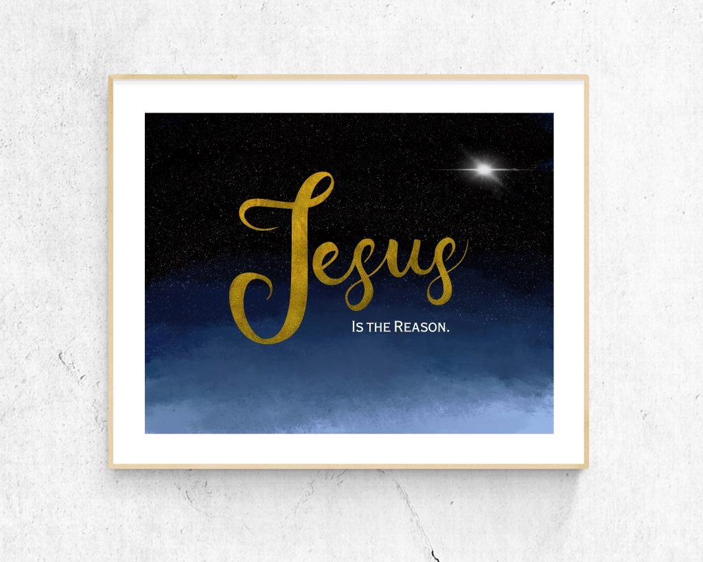 Jesus is the Reason, Christian Wall art image