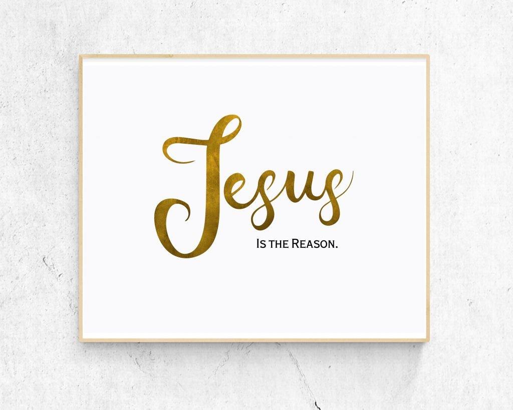 Jesus is the reason wall wart