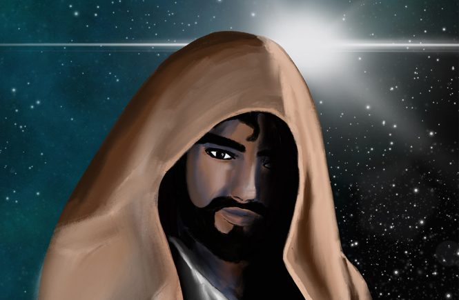 Jesus with brown cape (Star Wars devotional)