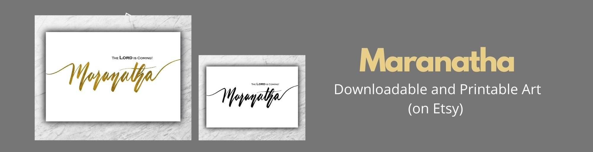 maranatha downloadable art