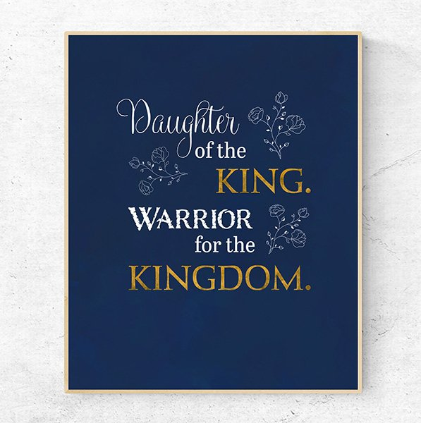 Daughter of the king warrior for the kingdom image