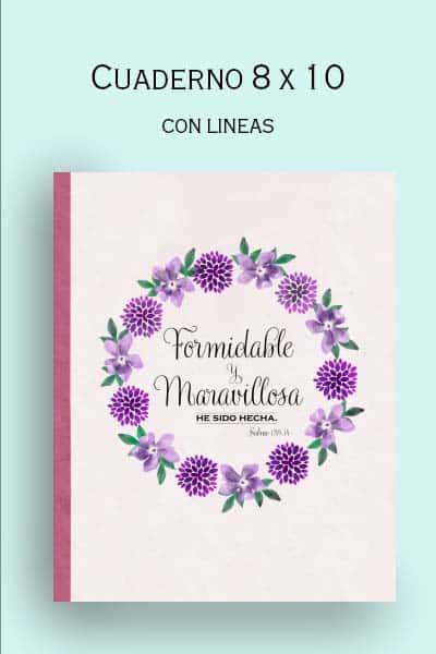 regalo para mujer cristiana, libreta de apuntes, formidable y maravillosa
