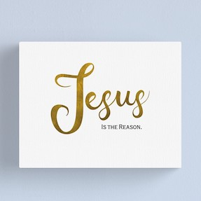 Jesus is the reason art canvas, christian christmas gifts