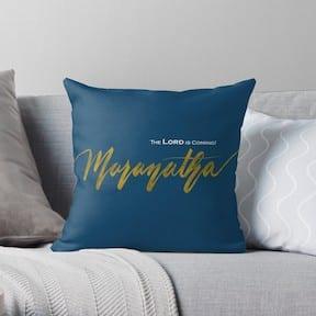 Maranatha gift - throw pillow christian home decor item.